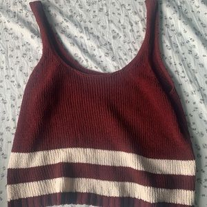 American eagle crop top. Soft red fabric.